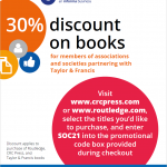 Taylor and Francis 30% Book Discount